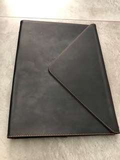 "iMac ipad 14"" leather folio case"