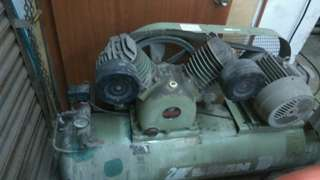 air compressor 5hp & blasting pot german