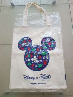 NEW Kiehl's Special Edition Disney Tote Bag