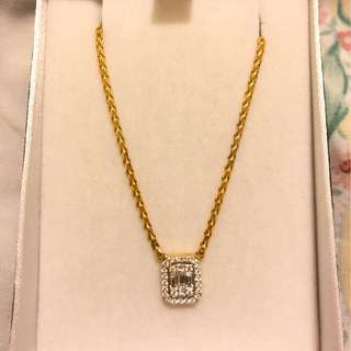 Emerald Cut Choker Necklace