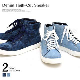 Denim High Cut Sneaker Shoes