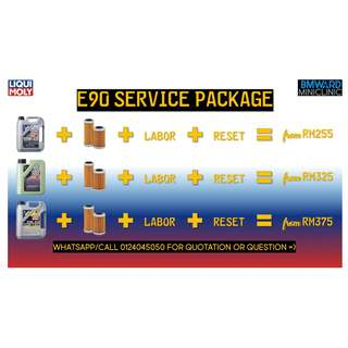 BMW E90 Engine Oil Service Package