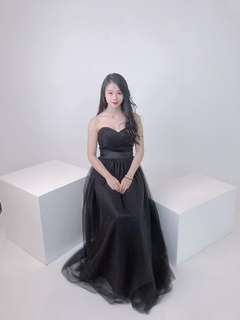Black Sweetheart Evening Gown (Rent)