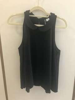H&M black swing top