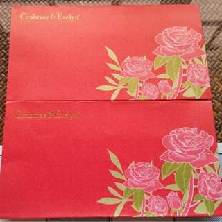 5 pcs Crabtree & Evelyn London Floral Red Packet / Ang Bao Pao Pow Pau