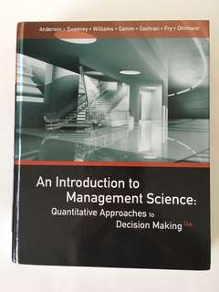 An introduction to Management Science / Principles of Singapore Business Law