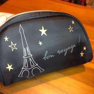 🚚 (近全新)Agnis b 巴黎鐵塔小化妝包