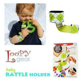 Loopy gear baby rattle and toy holder