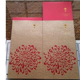8 pcs Capella Hotel sleeve Floral Red Packet / Ang Bao Pow Pau Pao