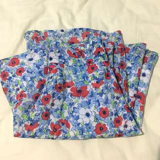 Colorbox Blue Floral Skirt