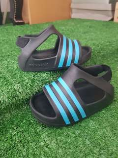 Adidas Adilette Play Black with Blue Stripes