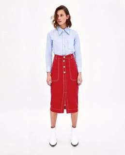 Europe and the United States Women's new line hit color skirt