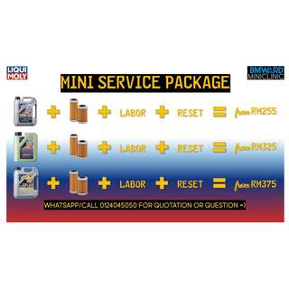Mini R50 R53 R55 R56 R60 Engine Oil Service Package