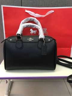 Coach mini Bennett handbag black colour
