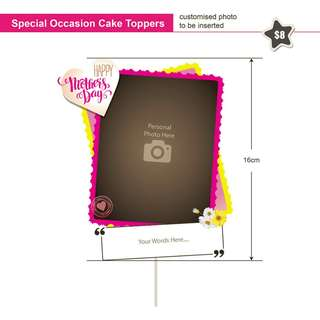 Special Occasion Cake Topper with Personalized Photo and Words