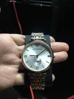ARMANI Rose Gold Mother of Pearl Dial Ladies Watch