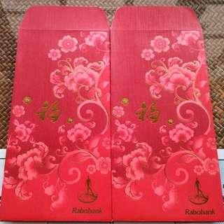 10 pcs Rabobank Floral Red Packet / ANg Bao Pao Pow Pau