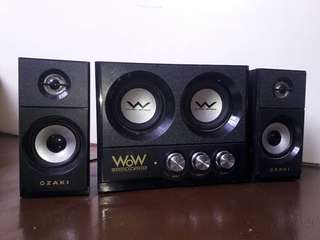 Stereo Audio System (Dual Bass Woofer Speakers)