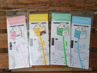 Milk carton magnetic bookmark
