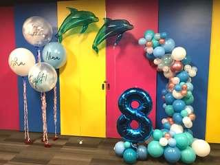 Kids party decor balloons