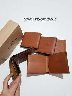 Coach Men Wallet Saddle
