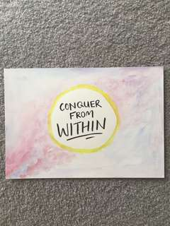 Watercolour calligraphy artwork