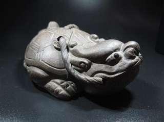【茶寵】宜興紫砂龍龜茶寵瑞獸