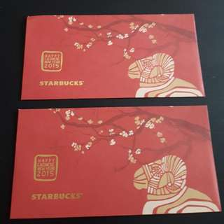 Angpao Red Packet Starbucks Goat Year