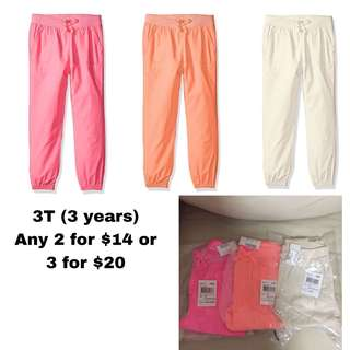 SALE 50% Off - any 2 for $14, 3 for $20 - 3 years BNWT The children's place toddler girl skinny pants.