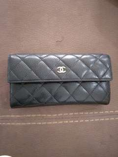 Chanel Calf Leather Long Wallet