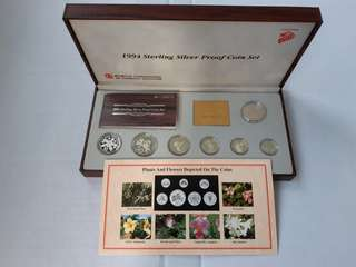 1994 to 1999 Sterling Silver Proof Coin Set