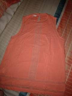 Promod soft orange top