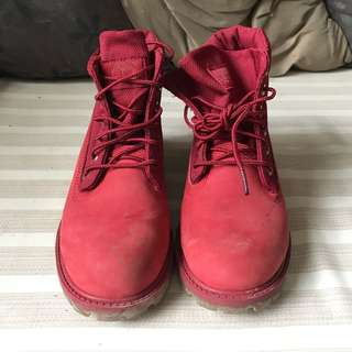 Timberland Red Boots (Foldable)
