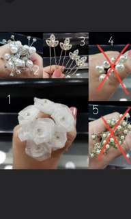 Bride to be - Bridal hair pins accessory (for actual wedding or prewedding )