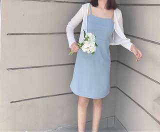 Dorita blue Knitted Dress