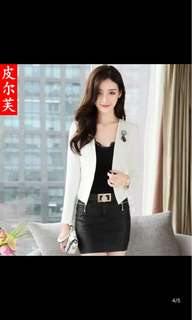 Stylish white suit top