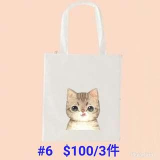 貓貓帆布袋