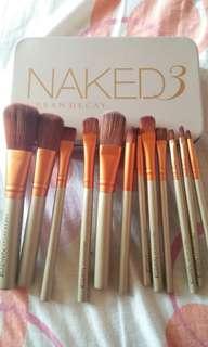12pcs Professional Naked 3 Makeup Brushes