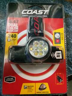 Coast fual color headlamp