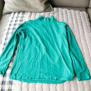 Green winterwear top