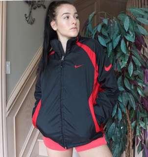Vintage Nike Black and Red Jacket