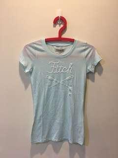🚚 Abercrombie af短袖上衣 t恤 水藍色