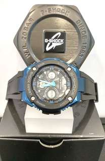 * FREE DELIVERY * Brand New 100% Authentic Casio GShock GSteel Mid Size Blue G Shock Tough Solar Watch for Ladies G Shock GSTS300G 1A2 GSTS300G-1A2DR