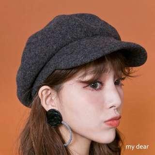 正韓💛 羊毛報童帽