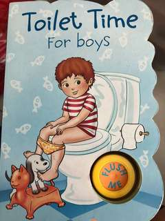Toilet training book for boys
