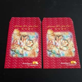 Angpao Packet Chinese New Year Bumiputra Commerce Vintage