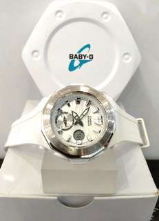* FREE DELIVERY * Brand New 100% Authentic Casio BabyG White on Steel Bezel Baby G Ladies Watch Baby-G BGA220 7 BGA220-7ADR