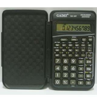 Ten Digits Pocket Size Electronic SCIENTIFIC CALCULATOR with Built In Hard Plastic Cover
