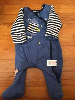 Mothercare long sleeve romper (thick)