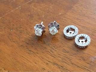 Half carat moissanite with detachable halo